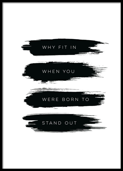 Born To Stand Out, Posters in de groep Posters / Posters met tekst bij Desenio AB (8505)