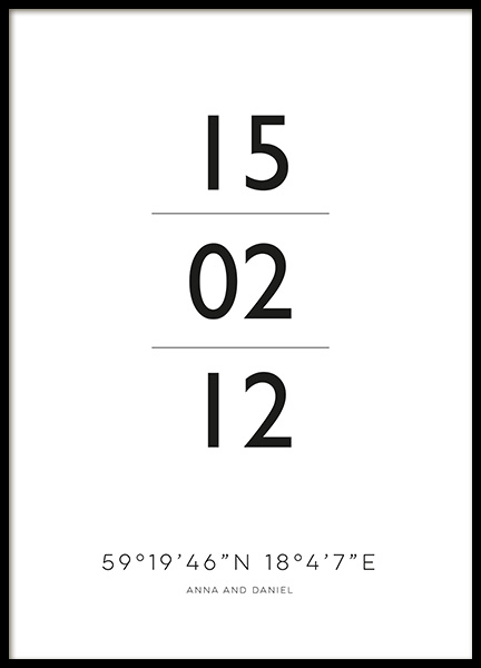 The Date Personal Poster in der Gruppe Poster / Personalisierte Poster bei Desenio AB (pp0018)