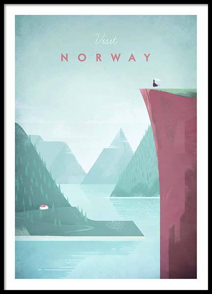 Norway Travel Affiche dans le groupe Affiches / Handpicked / Henry Rivers chez Desenio AB (pre0012)