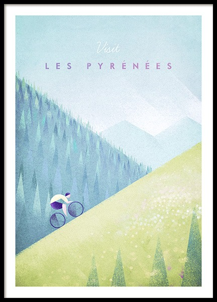 Les Pyrenees Poster in der Gruppe Poster / Handpicked / Henry Rivers bei Desenio AB (pre0039)