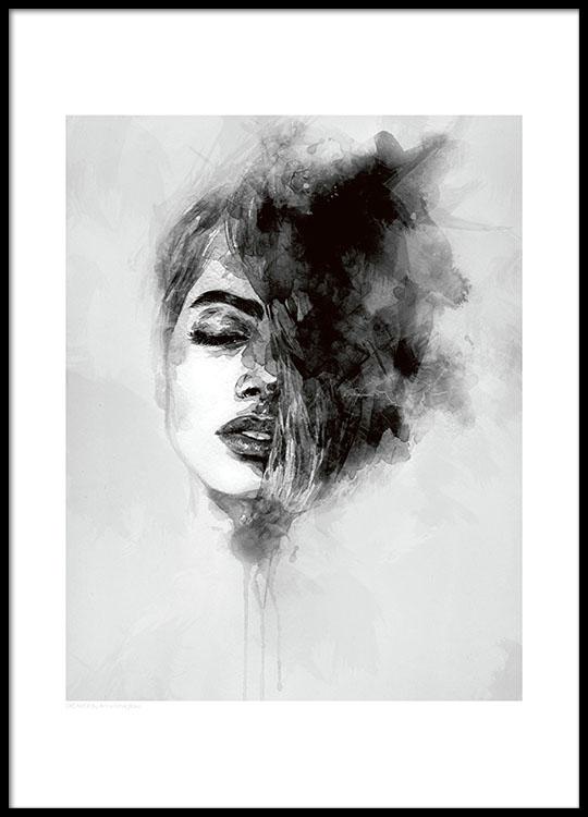 Verwonderlijk Poster met kunstmotief van vrouw | Prints en posters online UC-44