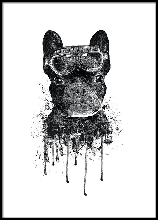 Beste Schattige kinderposter met hond | Moderne poster voor kinderen en PT-23